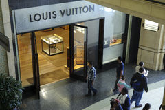 Louis Vuitton entreposé dans le théâtre de Kodak Photo stock