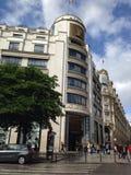Louis Vuitton. The famous Louis Vuitton storefront in Paris Royalty Free Stock Photography