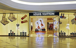 Louis vuitton fashion boutique Royalty Free Stock Images