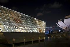 Louis Vuitton Flag Ship Store, Singapore. Famous Lois Vuitton Island Mainson, Marina Bay Sands Singapore Stock Photo