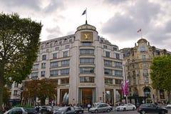 Louis Vuitton flagship store in Paris Stock Photo