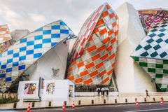 Louis Vuitton Foundation ontwierp door Frank Gehry Stock Afbeeldingen