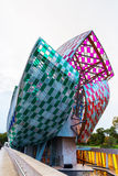 Louis Vuitton Foundation ontwierp door Frank Gehry Stock Foto