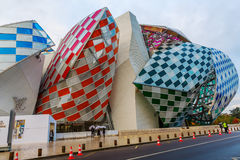 Louis Vuitton Foundation ontwierp door Frank Gehry Stock Foto's