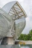 Louis Vuitton Foundation Paris, Frankrike Royaltyfri Fotografi