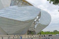 Louis Vuitton Foundation Paris, Frankrike Royaltyfri Bild