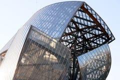 Louis Vuitton Foundation que constrói a franquia do arquiteto de LVMH gehry fotografia de stock royalty free
