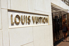 Louis Vuitton front store in Cannes Stock Photography
