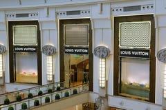 Louis Vuitton hace compras Foto de archivo libre de regalías