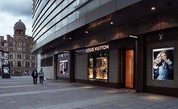 LOUIS VUITTON immagazzina a Manchester Fotografia Stock Libera da Diritti