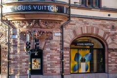 Louis Vuitton lagerframdel Franskt modehus och lyxigt återförsäljnings- företag fotografering för bildbyråer