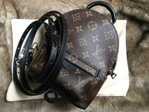 Louis Vuitton mini palm spring luxury shoppingbag in monogram stock photography