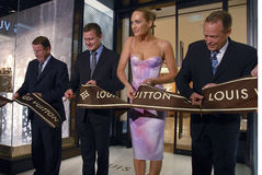 Louis Vuitton opening Royalty Free Stock Photo
