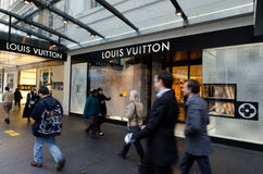 Louis Vuitton Robi zakupy Fotografia Royalty Free