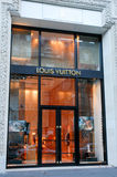 Louis Vuitton's clothing store at Paris on France Stock Photography