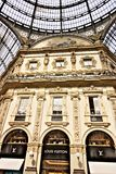 Louis Vuitton shop at the Galleria Vittorio Emanuele II in Milan stock photos