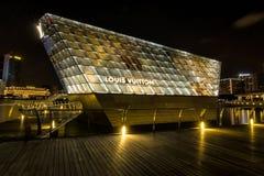Louis Vuitton shop in Marina Bay at night. Stock Photography