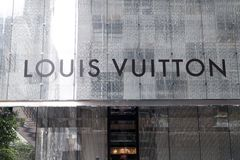 Louis Vuitton sign Stock Images