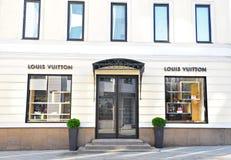 Louis Vuitton statku flagowego sklep Zdjęcia Royalty Free
