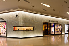 Louis Vuitton Store Royalty Free Stock Images