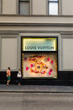 The Louis Vuitton store on Georges street. Louis Vuitton is a famous store with womens accessories such as handbags. Louis Vuittonb brand  is one of the leaders Royalty Free Stock Photography