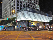 Louis Vuitton store on Hong Kong Royalty Free Stock Photography
