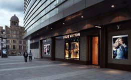 LOUIS VUITTON store in Manchester Royalty Free Stock Photography