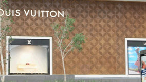 Louis Vuitton store on May 1st, 2015 in Panama. stock footage