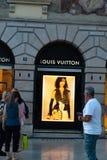 Louis Vuitton store in Verona, Italy. Verona, Italy - September 5, 2018: Louis Vuitton store. Shortened to LV, Louis Vuitton Malletier is a French luxury brand Stock Photos