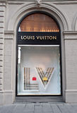Louis Vuitton store window Stock Photo