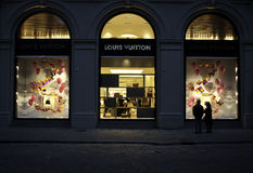 Louis Vuitton Windows Stock Photo