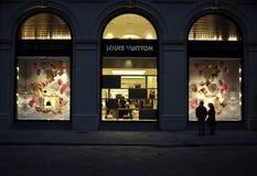 Louis Vuitton Windows Stock Photo