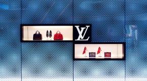 Louis Vuitton zdojest sklepu sklepowego okno Fotografia Stock