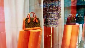Louis Vuitton zdojest sklepu sklepowego okno Fotografia Royalty Free