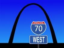 louis w Missouri arch do st. Zdjęcie Stock