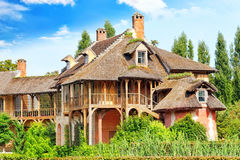 Louis XIII hunting lodge near Versailles Stock Photo