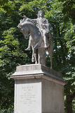 Louis XIII Statue in Place des Vosges Paris France Royalty Free Stock Photos