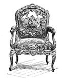Louis XIV chair,  baroque furniture XVII century Royalty Free Stock Image