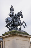 Louis XIV equestrian statue Stock Photos