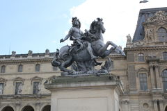 Louis XIV on a horse Royalty Free Stock Photos