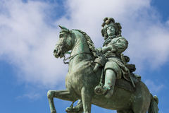 Louis XIV Sculpture in Versailles Royalty Free Stock Images