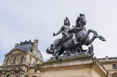 Louis XIV statue Louvre Royalty Free Stock Image