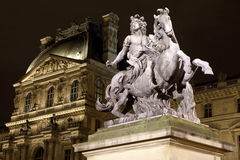 Louis XIV Statue at The Louvre in Paris Stock Image