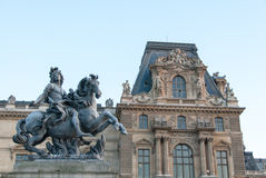 Louis XIV Statue Mounted on a Horse at the Louvre II Stock Photography