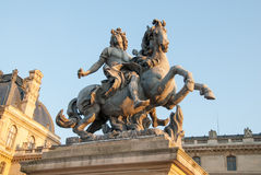 Louis XIV Statue Mounted on a Horse at the Louvre III Stock Image