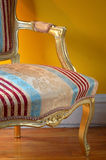 Louis XV arm-chair detail. Camera: Nikon D50, F=16, daylight & tungsten light with silver reflector stock images