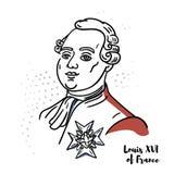 Louis XVI av den Frankrike ståenden vektor illustrationer