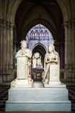 Louis XVI and Marie Antoinette Memorial. A memorial to King Louis XVI and his wife, Marie Antoinette, Queen of France, Basilica of Saint Denis, Saint-Denis Royalty Free Stock Photography