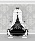 Louis XVI Sleigh Bed With Canopy a la Polonaise vector illustration