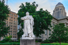 Louis XVI Statue - Louisville Kentucky. Louisville, Kentucky, USA - July 10, 2016: Louisville was named in 1780 in honor of French King Louis XVI's support of stock images